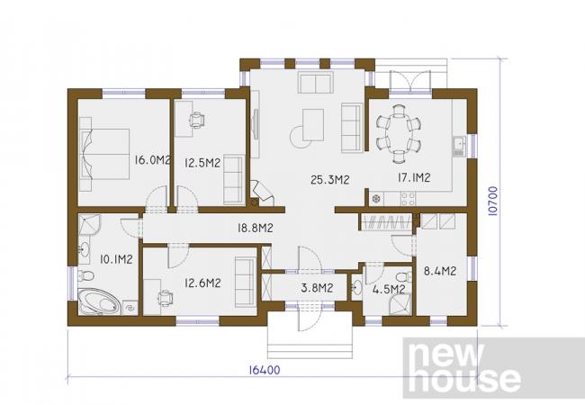Каталог проектов домов - Дома для одной семьи - MAJA LM3