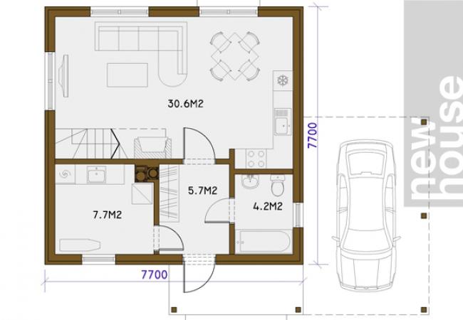 Māju projektu katalogs - Vienas ģimenes mājas - SIMS