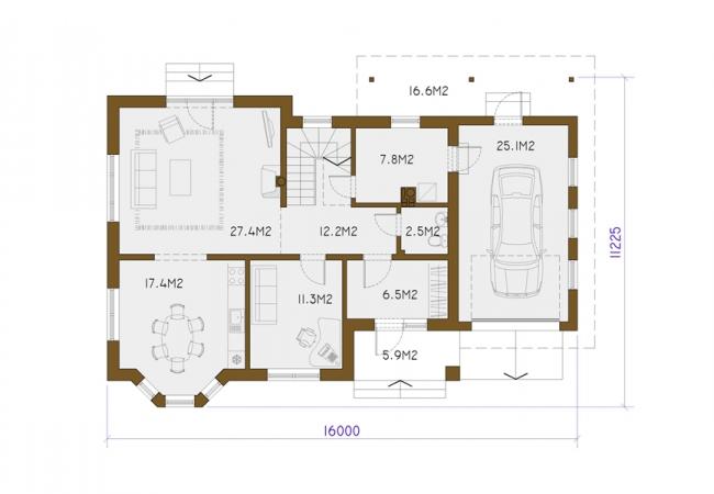 Каталог проектов домов - Дома для одной семьи - IVETA