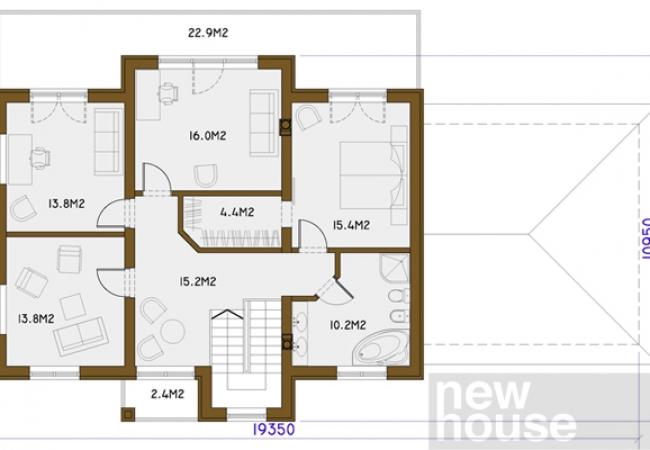Māju projektu katalogs - Vienas ģimenes mājas - HERMES