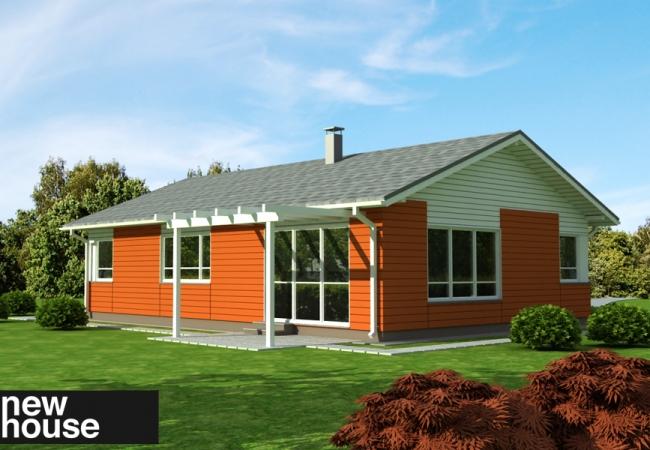 Māju projektu katalogs - Vienas ģimenes mājas - EKO1