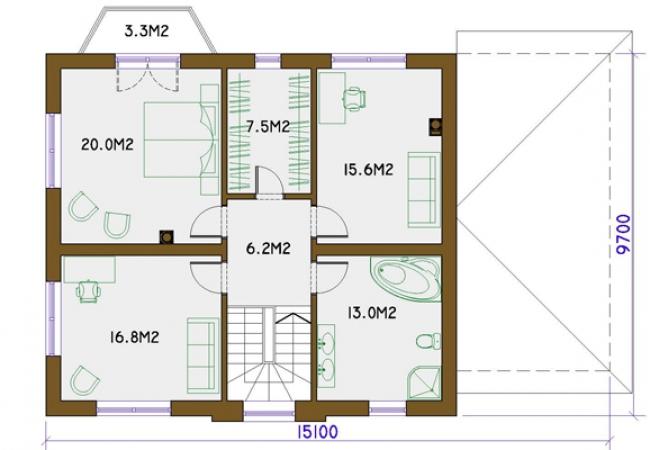 Māju projektu katalogs - Vienas ģimenes mājas - VIKIJA