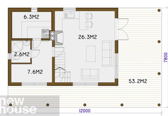 Māju projektu katalogs - Pirts projekti - MARTA
