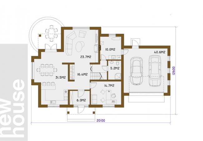 Māju projektu katalogs - Vienas ģimenes mājas - SMILTENE