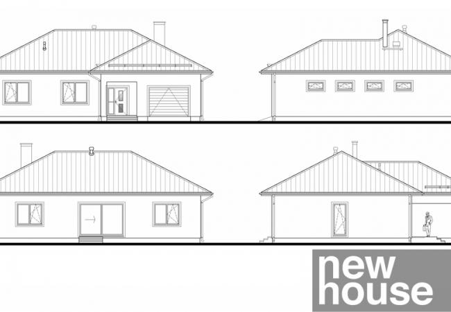 Каталог проектов домов - Дома для одной семьи - Māja LM7