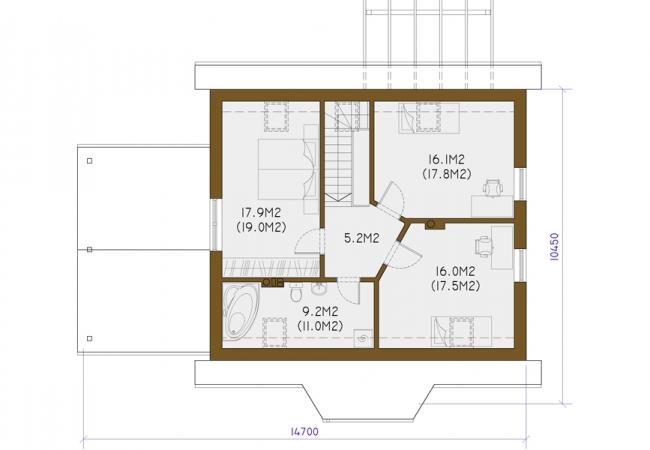Māju projektu katalogs - Vienas ģimenes mājas - INGUNA 1