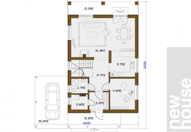 Māju projektu katalogs - Vienas ģimenes mājas - ANNA