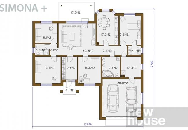 Māju projektu katalogs - Vienas ģimenes mājas - SIMONA