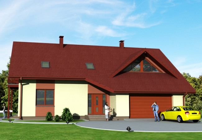 Māju projektu katalogs - Vienas ģimenes mājas - LAURA