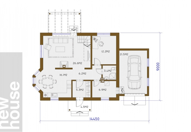 Māju projektu katalogs - Vienas ģimenes mājas - INGŪNA 2
