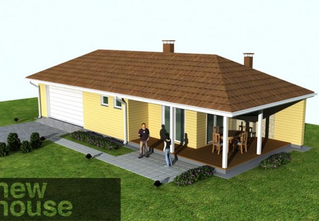Māju projektu katalogs - Garāža ar pirti - UNO 1