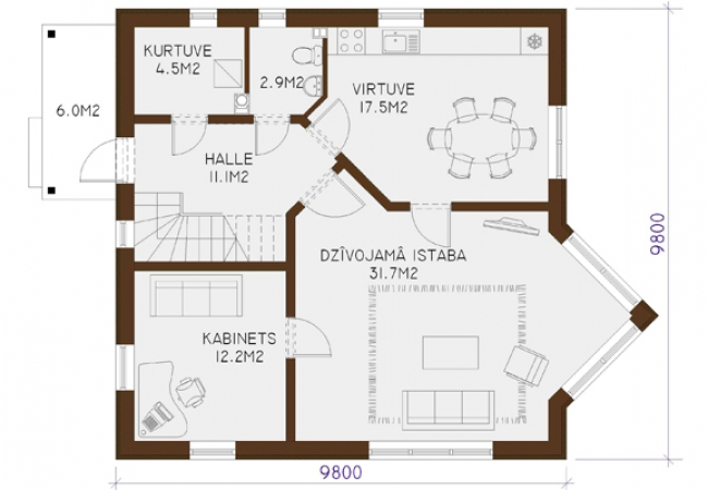 Māju projektu katalogs - Vienas ģimenes mājas - LOTE