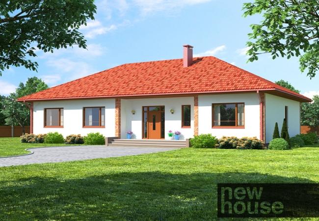 Māju projektu katalogs - Vienas ģimenes mājas - Māja LM1