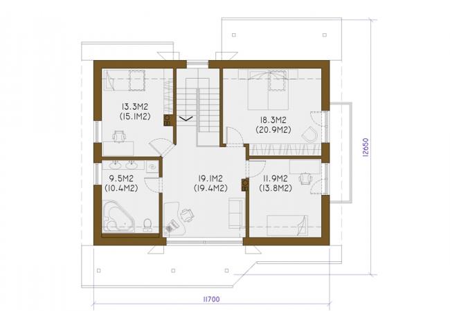 Māju projektu katalogs - Vienas ģimenes mājas - MAIJA