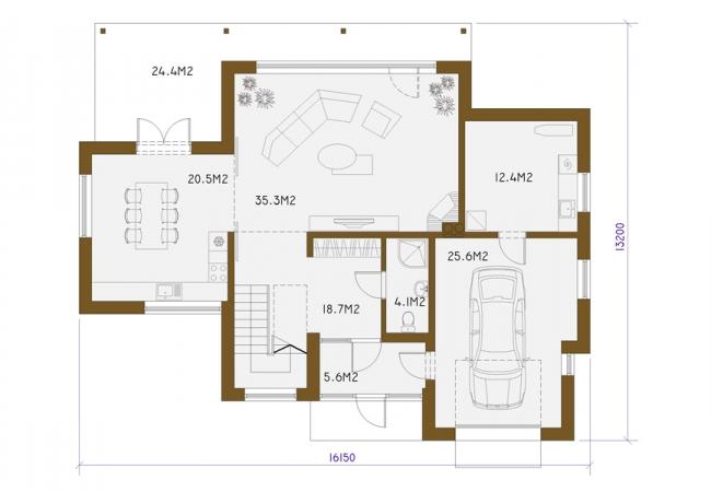 Māju projektu katalogs - Vienas ģimenes mājas - FREGO