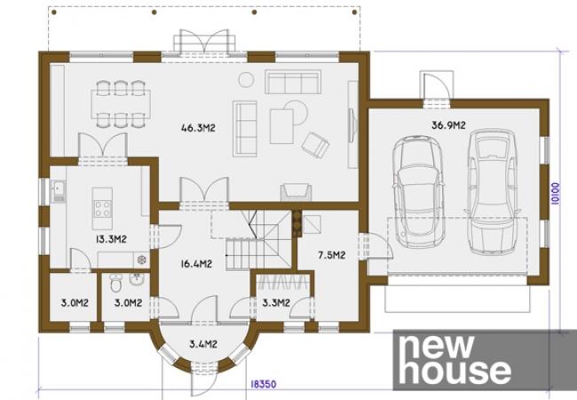 Māju projektu katalogs - Vienas ģimenes mājas - AIVARS