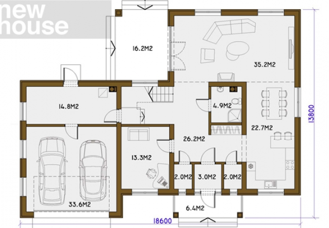 Māju projektu katalogs - Vienas ģimenes mājas - BRIGITA