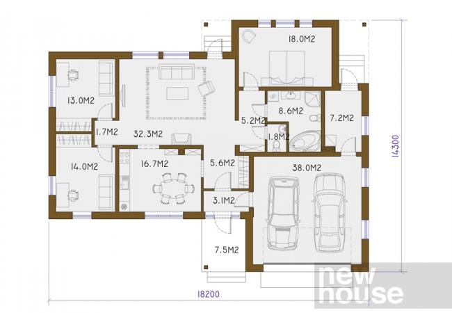 Māju projektu katalogs - Vienas ģimenes mājas - SIGNE