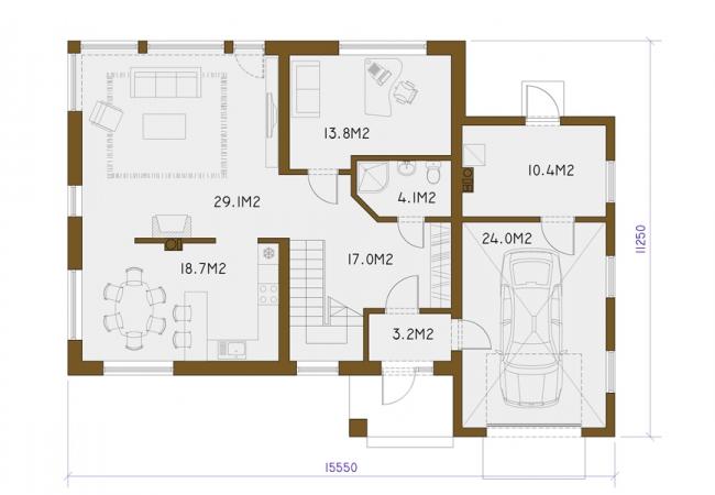 Māju projektu katalogs - Vienas ģimenes mājas - VIKA