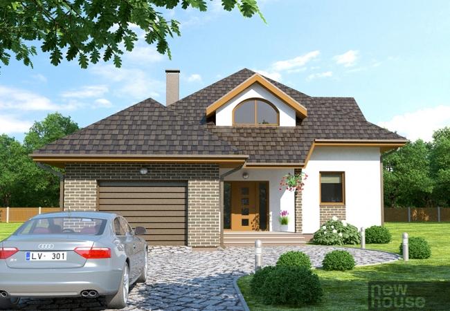 Māju projektu katalogs - Vienas ģimenes mājas - DAGDA